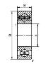 подшипник 5-208 (ЕТУ 100/3)(GPZ1)